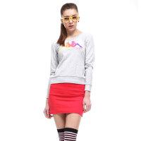 Kappa/卡帕 卡帕KAPPA女装长袖T恤运动服生活针织圆领K0422WT01-105