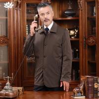 逸纯印品 (EASZin) 男式棉服 2016秋冬新款男士棉衣 单排扣加棉加厚风衣外套