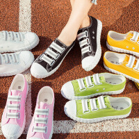 2017春季新款一脚蹬帆布鞋女学生百搭懒人鞋韩版透气布鞋夏季板鞋