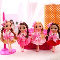 【全店支持礼品卡】正版迷糊娃娃芭比迷你娃娃一套4个女孩玩具公主儿童仿真洋娃娃情人节礼物