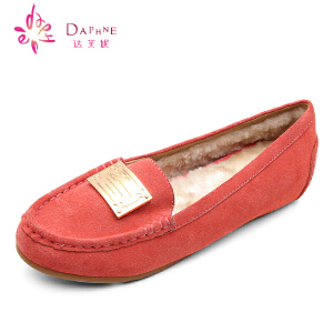 Daphne/达芙妮  金属装饰舒适平底内增高舒适单鞋1014404021