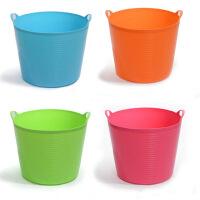 大号带出水口环保塑料储水桶 儿童沐浴桶 婴儿沐浴盆 杂物桶 桶储物 收纳桶 橙色