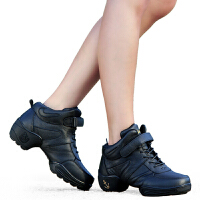 舞蹈鞋广场舞女士跳舞鞋软底秋冬高帮芭蕾舞鞋
