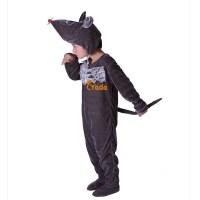 黑老鼠宝宝表演儿童演出服女跳舞蹈衣冬黑老鼠动物造型服装套装男春秋季黑老鼠