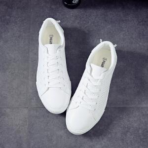 环球 夏季男鞋小白鞋潮流平底透气百搭男士休闲运动板鞋17802