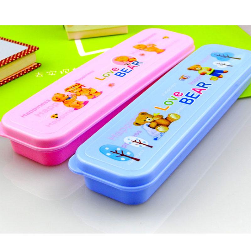 文具盒 可爱卡通软塑料铅笔盒 密封收纳盒 单个