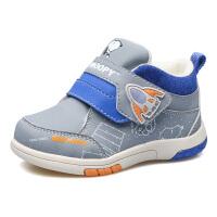 史努比童鞋男童软底学步鞋保暖婴儿鞋冬大棉机能鞋1-3岁宝宝鞋子