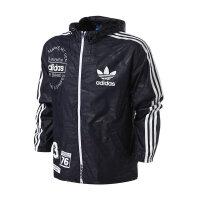 阿迪达斯三叶草男品牌LOGO常规型梭织防风衣外套AY8634