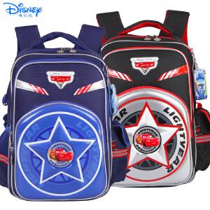 迪士尼麦昆汽车男童小学生1-4年级卡通双肩减负护脊书包