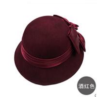 秋冬新品女士盆帽小礼帽 时尚淑女帽 英伦羊毛呢帽子