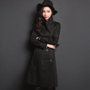 【9.21超级品牌日】七格格 加长款宽松双排扣风衣 女