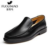 富贵鸟时尚头层纳帕牛皮套脚商务正装皮鞋男鞋子