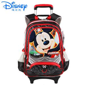 Disney/迪士尼 米奇拉杆书包男童中学生小学生儿童拉杆包拉杆可拆卸MB0318