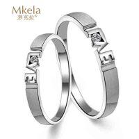 梦克拉  白18K金钻石结婚女戒指 缘定今生 创意礼品