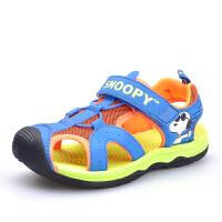 史努比男童凉鞋包头中大童夏季2016新款宝宝凉鞋沙滩鞋儿童学生鞋