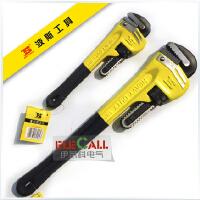 精品 波斯工具 重型管子钳 管子扳手10寸/18寸 高碳钢 沾塑柄