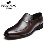 富贵鸟时尚男士商务正装套脚皮鞋男鞋子正装鞋