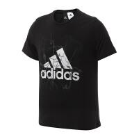 adidas阿迪达斯男装短袖T恤2017新款运动服BK2812