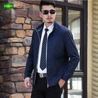 逸纯印品(EASZin)男装2016春秋立领薄款夹克男士休闲短款拉链男士外套