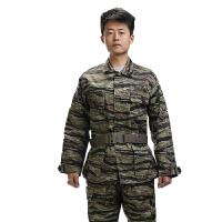 迷彩服休闲简约户外运动服装虎斑丛林耐穿军用迷彩服