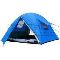 郊外3-4人钓鱼防雨凉棚 公园沙滩双层牢固帐篷 野餐透气通风露营草地帐篷 户外休闲旅游装备