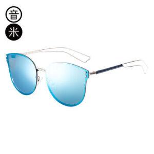 音米新款复古猫眼太阳镜女时尚偏光镜大框驾驶太阳眼镜潮墨镜女 AASAJH423