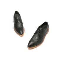 秋冬季男士 商务休闲鞋鳄鱼纹 皮鞋男英伦风男鞋发型师鞋夜店潮鞋男吧台跳舞鞋