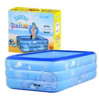 酷迪 婴儿游泳池 儿童宝宝夏日洗澡浴缸充气新生儿洗澡盆保温加厚戏水玩具