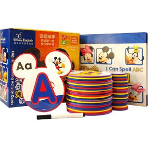 迪士尼英语家庭版-英语字母海绵学习卡