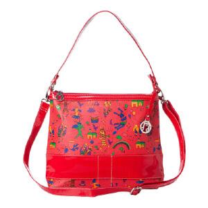 [当当自营]梵贝斯 音乐家系列优雅气质两用女包 大红色 1112043702