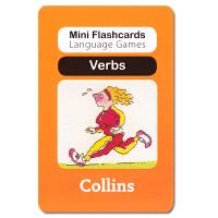 英国幼儿认字闪卡 Verbs 启蒙学习创意游戏卡片