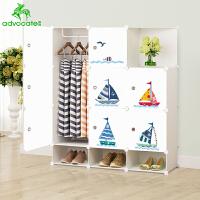 崇尚 儿童衣柜成人简易衣橱可折叠拆装组装收纳整理柜大家具