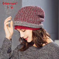 修脸型针织帽冬季女士毛线帽休闲百搭堆堆帽女潮韩版时尚秋冬帽子9066