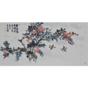 刘其良《多子多福》香港美术家协会会员,中国国画家协会理事