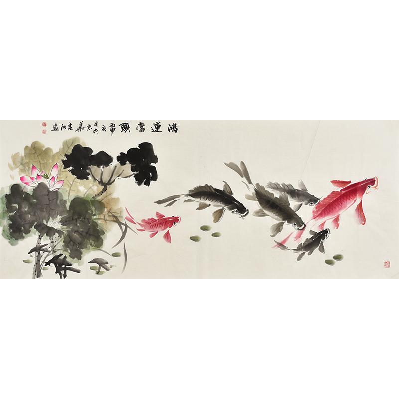 清华美院 画家李春江《鸿运当头》图片