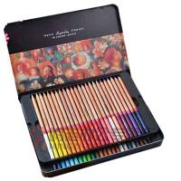 支持货到付款   秘密花园 涂色笔 MARCO彩色素描铅笔套装马可3100TN 24色 36色 48色雷诺阿 彩色铅笔 铁盒油性彩铅