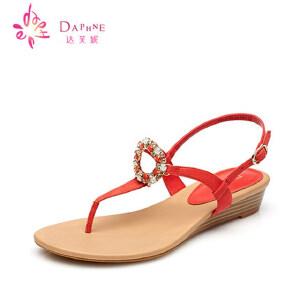 Daphne达芙妮 夏季凉鞋女鞋凉鞋鱼嘴青年高跟女1015303019