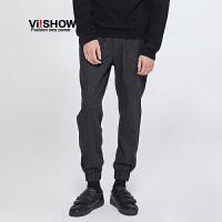 VIISHOW秋季新款男士休闲裤青年韩版直筒长裤休闲运动潮裤子