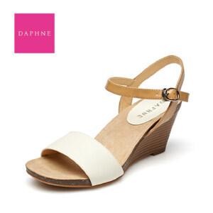 达芙妮凉鞋女夏清仓正品 防水台坡跟高跟鞋学生夏天鞋子罗马女鞋