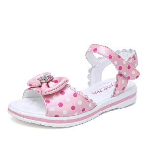Hello Kitty童鞋女童凉鞋夏季新款儿童透气沙滩鞋女孩公主鞋