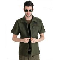 自由骑士 82空降师男装全棉休闲短袖衬衫 户外休闲军迷衬衣8016