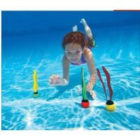 INTEX彩带潜水球 戏水玩具 水底浮潜游泳玩具 三个装