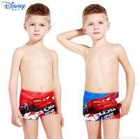 迪士尼儿童泳衣裤男童宝宝平角泳裤卡通绑绳式汽车沙滩裤SCK10007