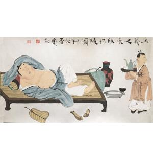 徐乐乐 《坦腹图》 江苏省国画院一级美术师