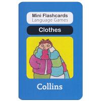 英国进口幼儿认字闪卡 clothes 启蒙学习创意游戏卡片