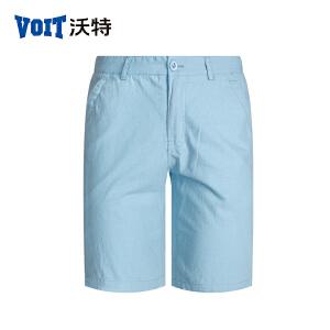 沃特男休闲薄款透气中裤运动时尚沙滩裤潮流水洗五分裤夏天