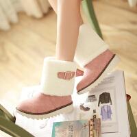 彼艾2016秋冬季韩版马丁靴皮带扣休闲鞋平跟短靴学生鞋孕妇鞋保暖女靴子