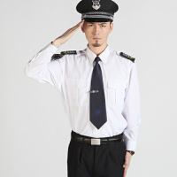 海军白色衬衣海军制服军礼服装海军风长袖海军服制服保安衬衣长袖酒店保安夏季服装演出服