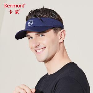卡蒙帽子男款夏季棒球帽欧美透气运动帽无顶鸭舌帽情侣户外空顶帽342201