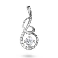 先恩尼钻石 18K白金钻石项链/吊坠 结婚订婚礼物 甜蜜爱恋DZ085